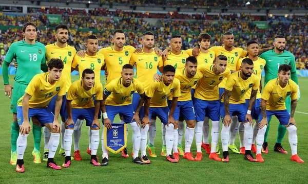 Сборная Бразилии - победитель олимпийского футбольного турнира