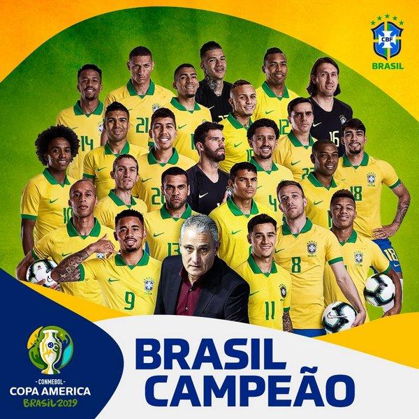 Сборная Бразилии по футболу - победитель Кубка Америки 2019 года